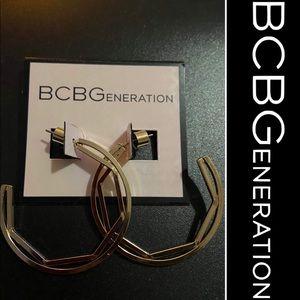 BCBGeneration Gold Hoop Earrings